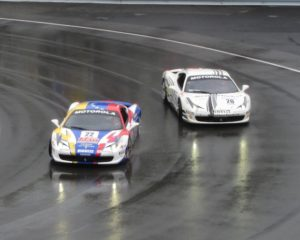 Overtaking in the Ferrari Challenge support race