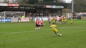 Woking 1 – Farnborough 0