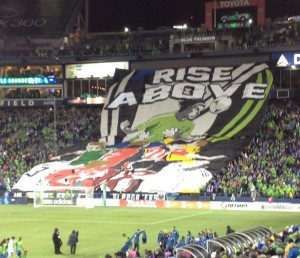 ECS tifo prior to kick off